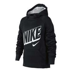 Nike Boys Therma Hoodie Black / White XS, , rebel_hi-res