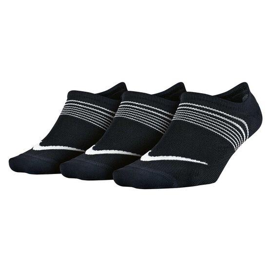 Nike Womens Performance Lightweight Training 3 Pack Socks, Black / Multi, rebel_hi-res