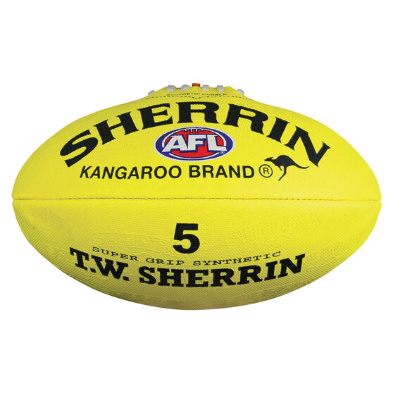 Sherrin Synthetic Australian Rules Ball Yellow 5, , rebel_hi-res