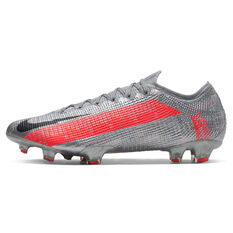 Nike Mercurial Vapor XIII Elite Football Boots Silver/Red US Mens 6 / Womens 7.5, Silver/Red, rebel_hi-res