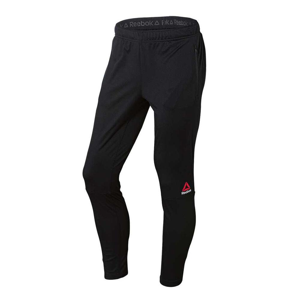 be3733e3679d42 Reebok Mens Knit Trackster Training Pants Black M Adult