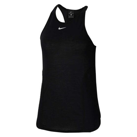 Nike Pro Womens AeroAdapt Tank, Black, rebel_hi-res