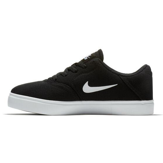 Nike SB Check Canvas Kids Skateboarding Shoes Black / White US 13, Black / White, rebel_hi-res