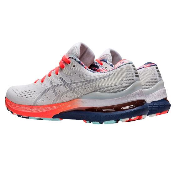 Asics GEL Kayano 28 Celebration of Sport Womens Running Shoes, White/Coral, rebel_hi-res
