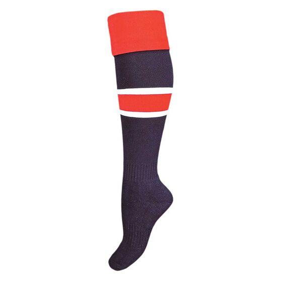 Burley Roosters Kids Football Socks US 2 - 8, , rebel_hi-res