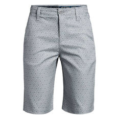 Under Armour Boys Match Play Golf Shorts Grey / Teal 6, , rebel_hi-res