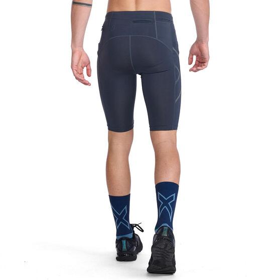 2XU Mens Compression Shorts, Navy, rebel_hi-res