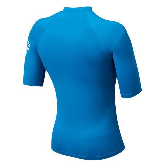 Quiksilver Mens All Time Rash Vest Blue M, Blue, rebel_hi-res
