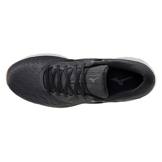Mizuno Wave Rider 24 Mens Running Shoes, Black/Gum, rebel_hi-res