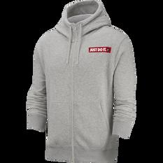 Nike Mens Sportswear JDI Full-Zip Hoodie Grey S, Grey, rebel_hi-res