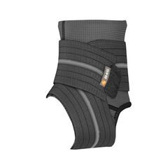 Shock Doctor Ankle Sleeve with Wrap Support Black S, Black, rebel_hi-res