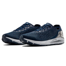 Under Armour HOVR Sonic 3 Mens Running Shoes, Navy/Silver, rebel_hi-res
