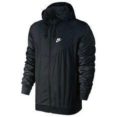Nike Mens Windrunner Jacket Black / White S adult, Black / White, rebel_hi-res
