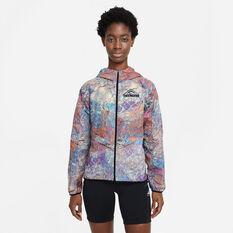Nike Womens Packable Trail Running Jacket Multi XS, Multi, rebel_hi-res