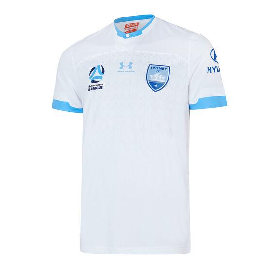 Sydney FC 2019/20 Kids Away Jersey, White, rebel_hi-res