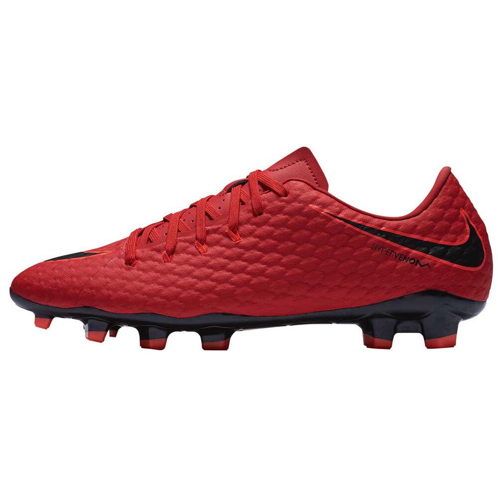 6a2992d17ff5 Nike Hypervenom Phelon III Mens Football Boots Red   Black US 7.5 Adult