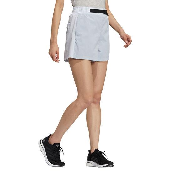 adidas Womens Woven Shorts, Blue, rebel_hi-res