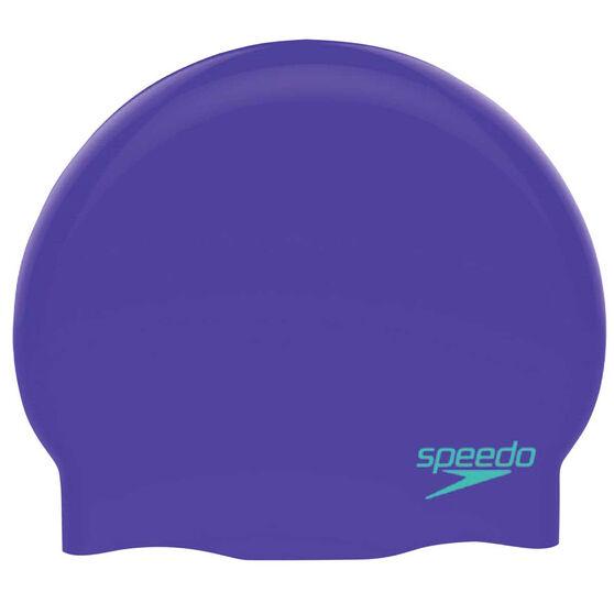 Speedo Plain Moulded Swim Cap, , rebel_hi-res