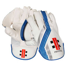 Gray Nicolls Prestige Wicketkeeping Gloves White Adult, White, rebel_hi-res