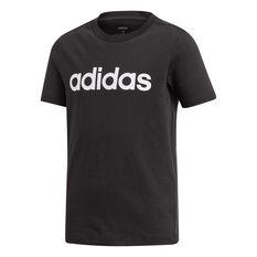 adidas Boys Essentials Linear Tee Black / White 8, Black / White, rebel_hi-res
