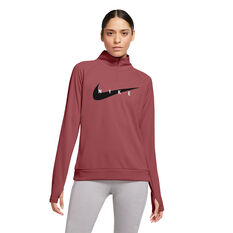Nike Womens Swoosh Run Running Top Pink XS, Pink, rebel_hi-res