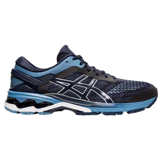 Asics GEL Kayano 26 2E Mens Running Shoes Blue / Grey US 8, Blue / Grey, rebel_hi-res
