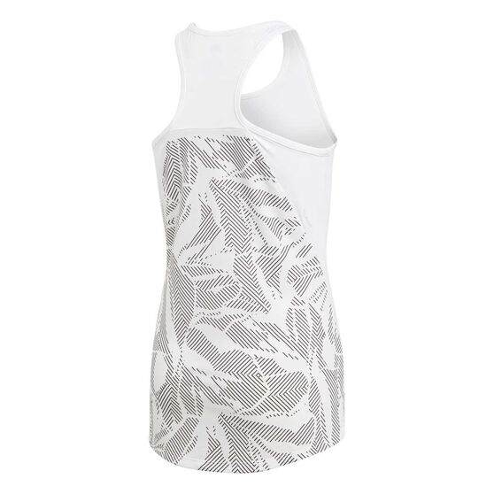 adidas Girls Training Tank White / Black 8, White / Black, rebel_hi-res