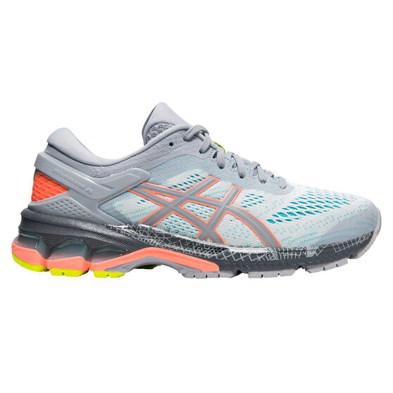 Asics GEL Kayano 26 Liteshow 2.0 Womens Running Shoes, Grey / Coral, rebel_hi-res