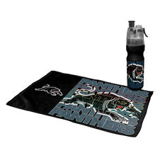 Penrith Panthers 2019 Water Bottle and Gym Towel Pack, , rebel_hi-res