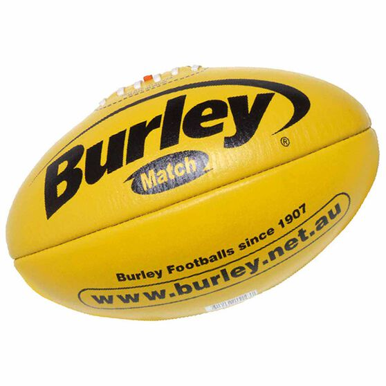 Burley AFL Match Australian Rules Ball, Yellow, rebel_hi-res