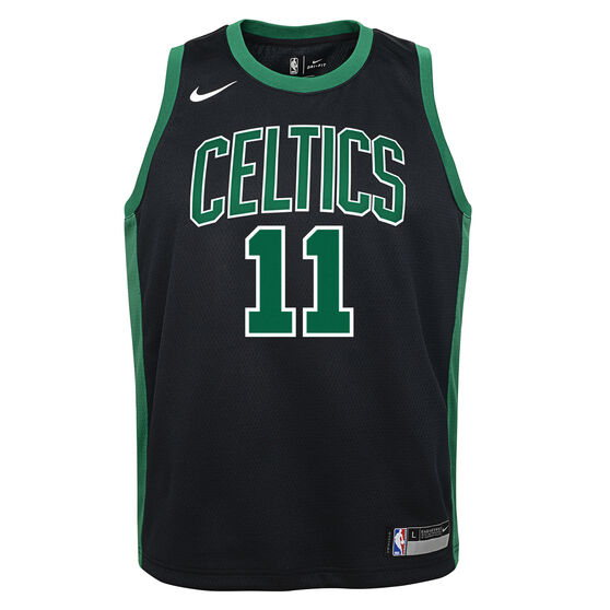 the best attitude 677aa 3902e Nike Boston Celtics Kyrie Irving Statement 2019 Kids Swingman Jersey Black  / Green M