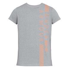 Under Armour Womens Vertical Tee Grey XS, Grey, rebel_hi-res