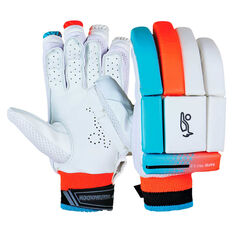 Kookaburra Rapid Pro 5.0 Junior Batting Gloves White Youth Right Hand, White, rebel_hi-res