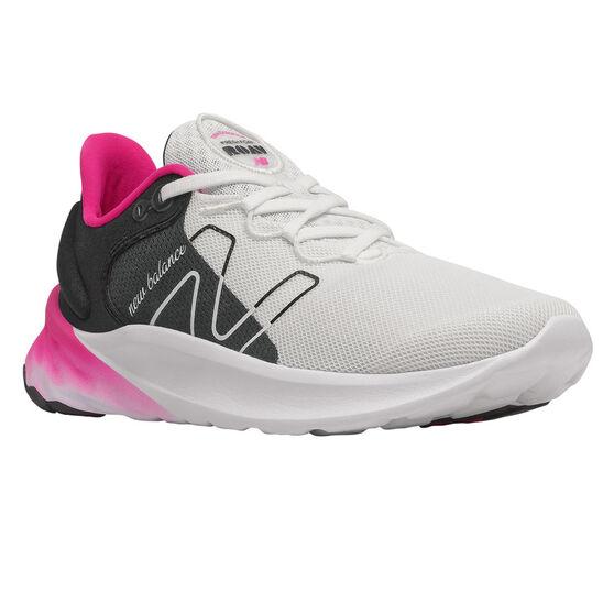 New Balance Fresh Foam Roav v2 Womens Running Shoes, White/Black, rebel_hi-res