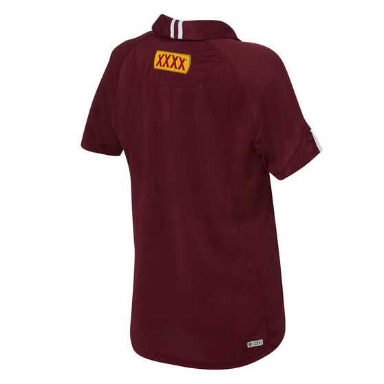 QLD Maroons State of Origin 2020 Womens Performance Polo, Maroon, rebel_hi-res