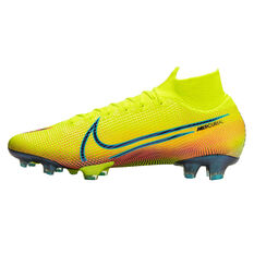 Nike Mercurial Superfly VII Elite Mens MDS Football Boots Yellow/Black US Mens 4 / Womens 5.5, Yellow/Black, rebel_hi-res