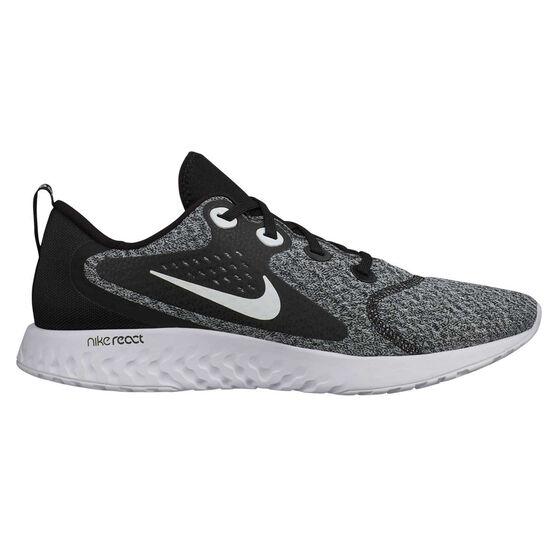 Nike Legend React Mens Running Shoes Black / White US 8.5, Black / White, rebel_hi-res