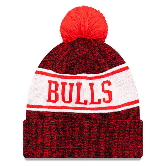 Chicago Bulls New Era Pom Knit Beanie, , rebel_hi-res