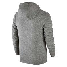 Nike Boys Sportswear Club Hoodie Grey / White XS Junior, Grey / White, rebel_hi-res