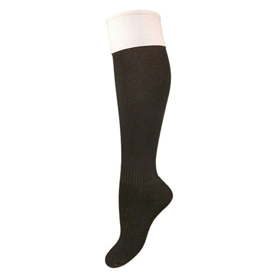 Burley Referee Kids Football Socks US 2 - 8, , rebel_hi-res