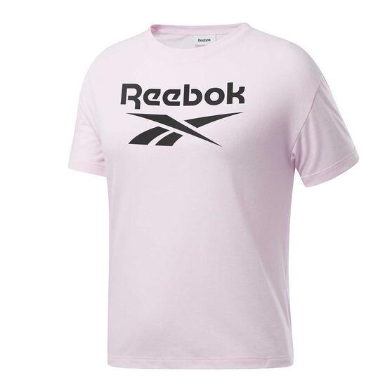Reebok Womens Workout Ready Big Logo Tee, , rebel_hi-res