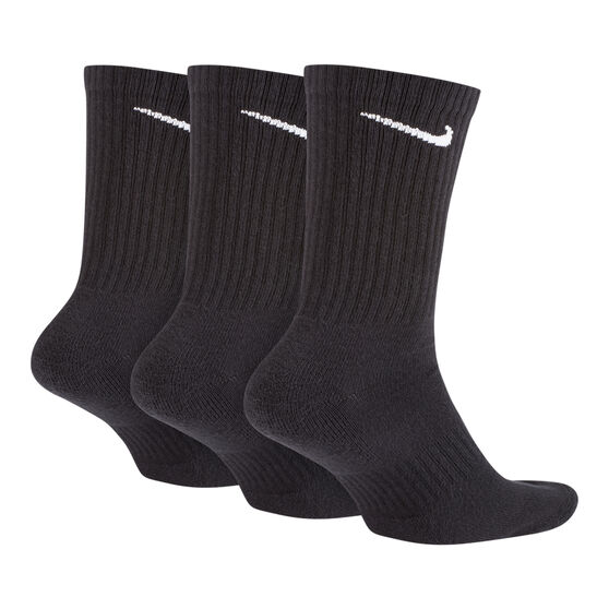 Nike Cushion Cushion Crew 3 Pack Socks, Black, rebel_hi-res