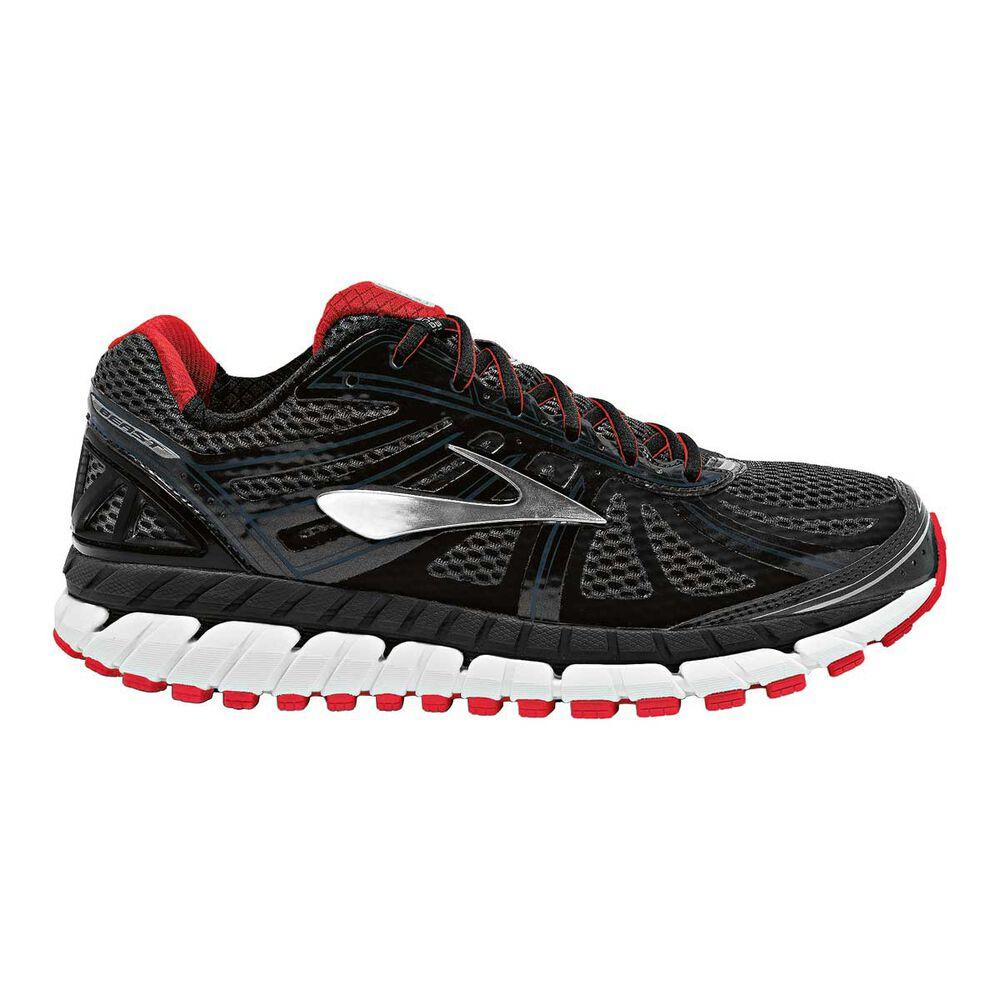 73fb3863226 Brooks Beast 16 2E Mens Running Shoes Black   Red US 10.5