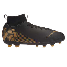 Nike Mercurial Superfly VI Club Kids Football Boots Black / Gold US 1, Black / Gold, rebel_hi-res