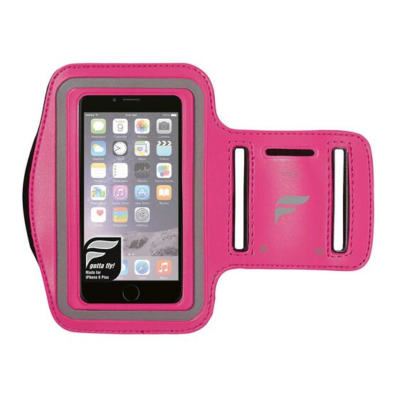 Fly Active iPhone 6 Plus Audio Armband Pink OSFA, Pink, rebel_hi-res