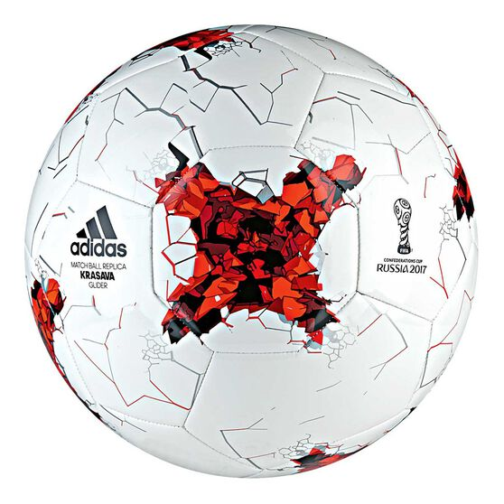 size 40 3f0ee c59b1 Adidas FIFA Confederations Cup Glider Ball White  Red 5, , rebelhi-res