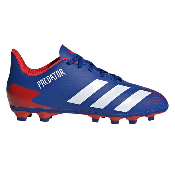 adidas Predator 20.4 FXJ Kids Football Boots, Blue/White, rebel_hi-res