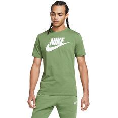 Nike Mens Sportswear Icon Futura Tee Green XS, Green, rebel_hi-res