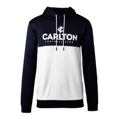 Carlton Blues 2020 Mens Ultra Hoodie Navy/White S, Navy/White, rebel_hi-res