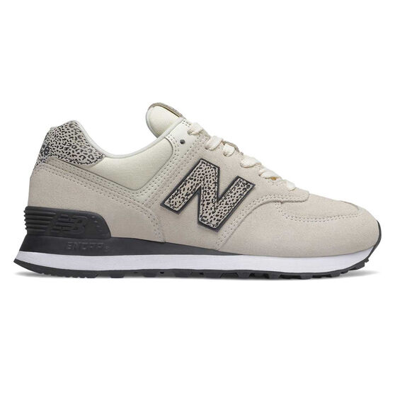 New Balance 574 Womens Casual Shoes, White, rebel_hi-res